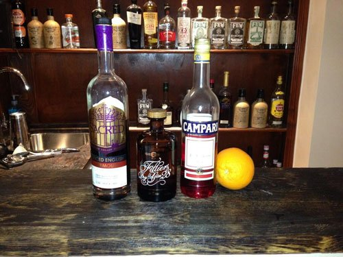 Ingredients for the Negroni