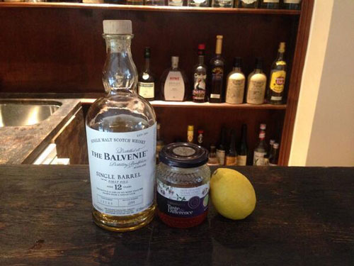 Scottish Gold Rush Ingredients: Balvenie whisky, honey, lemon