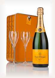 Veuve Clicquot Brut Yellow Label Tin & Glass Gift Set