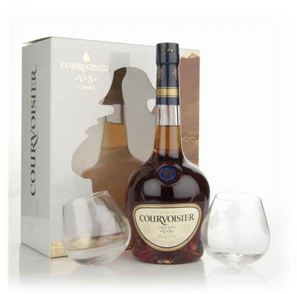Courvoisier VS with 2 Glasses Gift Pack