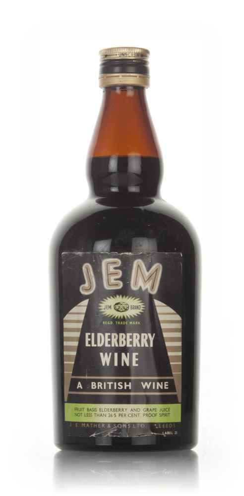 JEM Elderberry Wine - 1960s