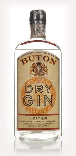 Buton Dry Gin - 1950s
