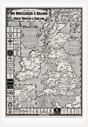 Map of Gin Distilleries & Brands of Great Britain & Ireland