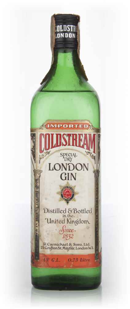 Coldstream London Dry Gin - 1960s