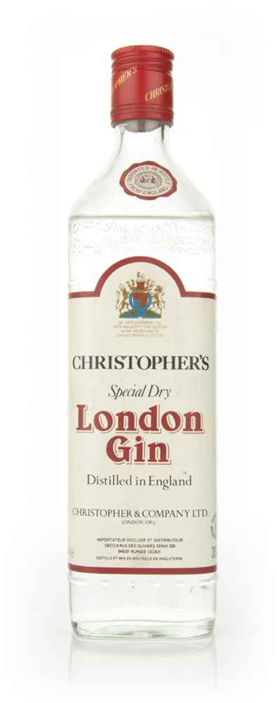 Christopher's London Dry Gin - 1970s