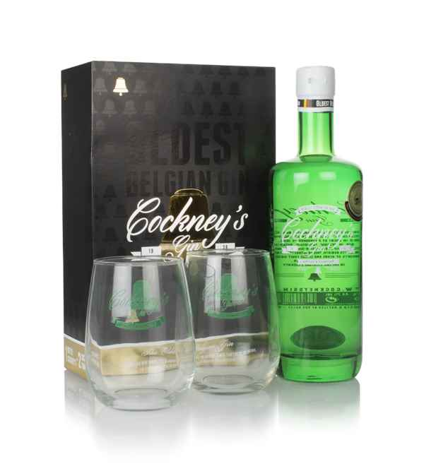 Cockney's Gin Gift Pack with 2x Glasses