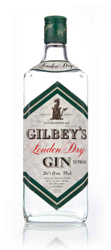Gilbey's London Dry Gin 40% - 1970s