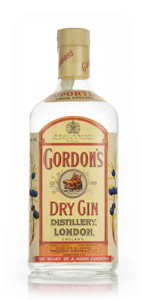 Gordon's London Dry Gin 38%  - 1970s
