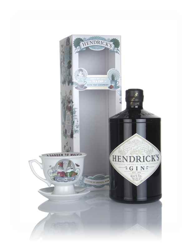 Hendrick's Gin - Unusual Garden Gift Box with Tea Cup