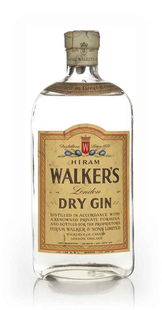 Hiram Walker's London Dry Gin - 1949-59