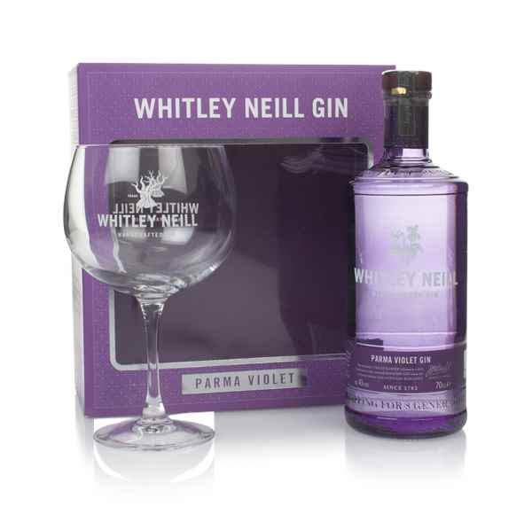 Whitley Neill Parma Violet Gin Gift Pack with Glass
