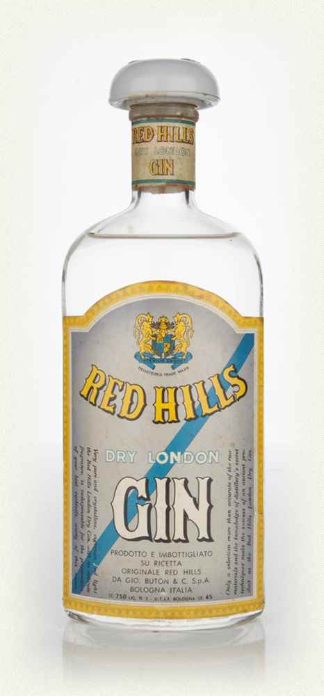 Buton Red Hills Gin - 1970s