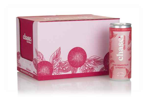 Chase's Pink Grapefruit & Pomelo Gin Seltzer (12 x 250ml)
