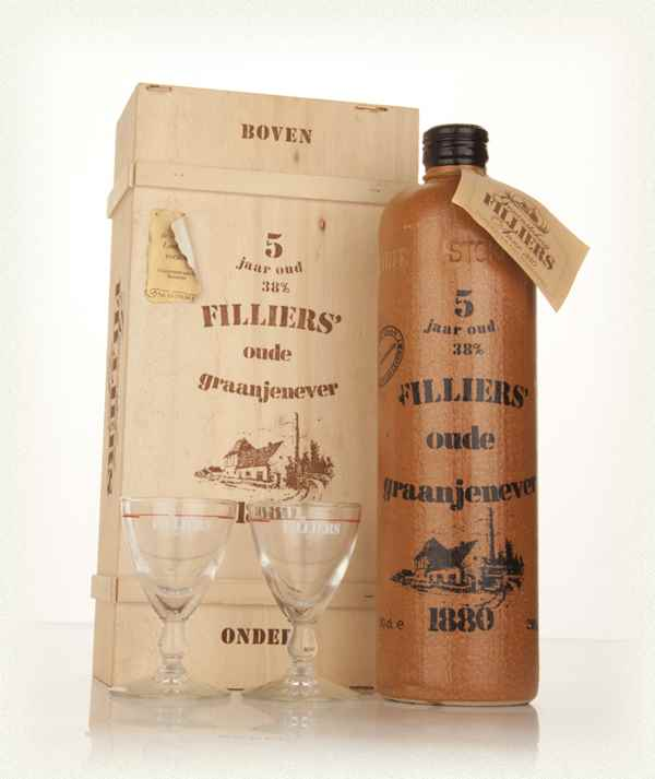 Filliers' 38° (5 Year Old) Oude Graanjenever with Two Glasses