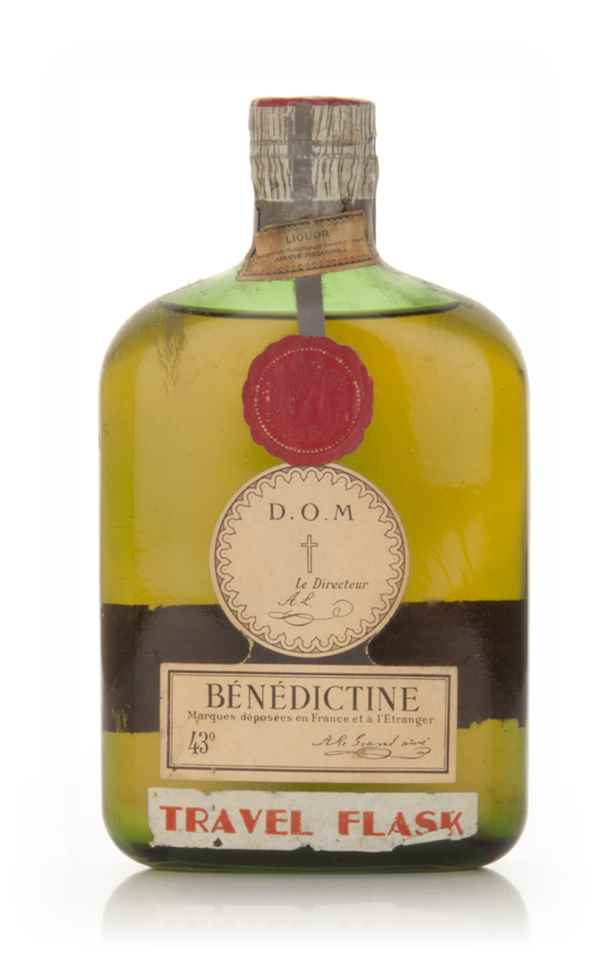 Bénédictine DOM Travel Flask - 1950s
