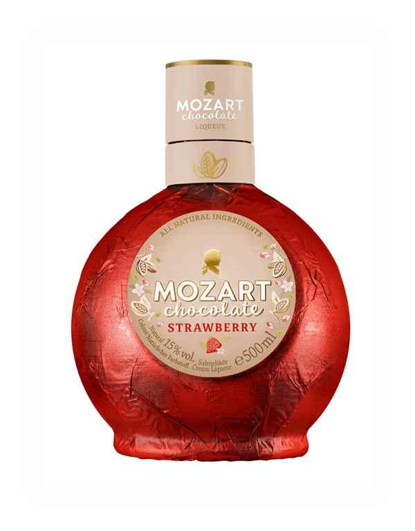 Mozart White Chocolate Strawberry Cream Liqueur