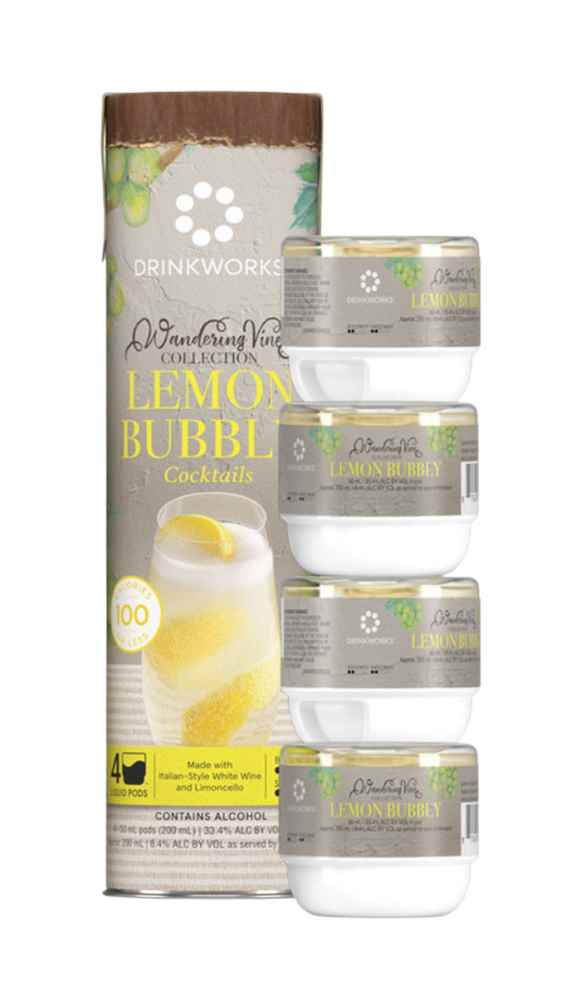 Drinkworks Lemon Bubbly Tube (4x Pods)