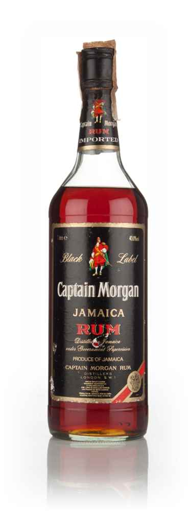 Captain Morgan Black Label 1l - 1980s