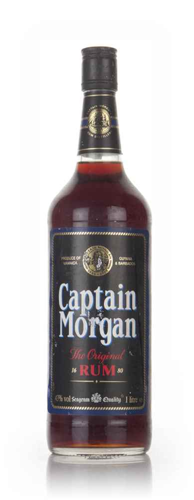 Captain Morgan Black Label (1L, 43%)- 1980s