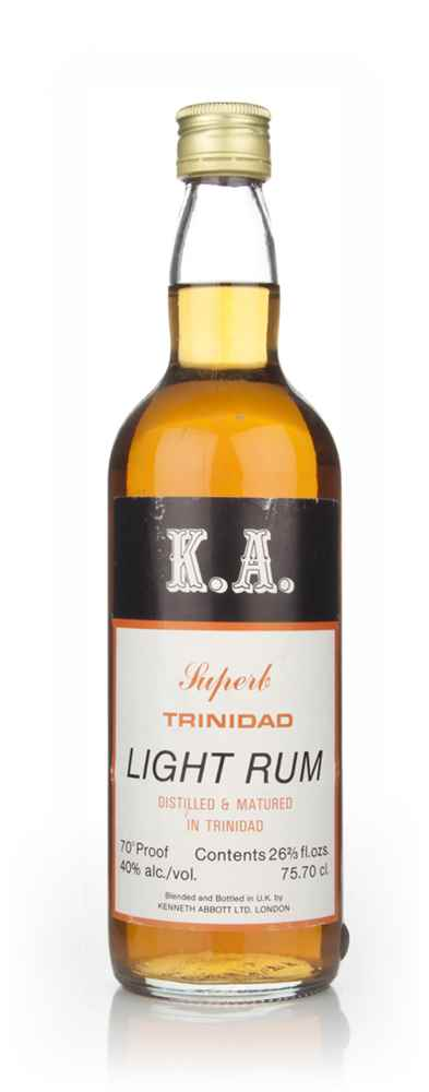 K. A. Superb Trinidad Light Rum - 1970s