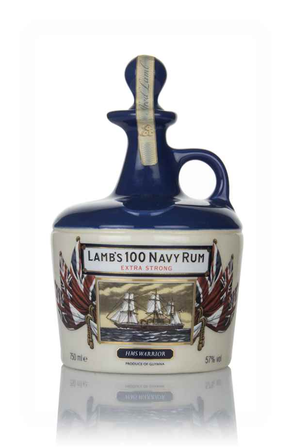 Lamb's 100 Extra Strong Navy Rum HMS Victory Ceramic Decanter - 1980s