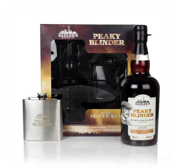 Peaky Blinder Spiced Rum Gift Pack with Hip Flask