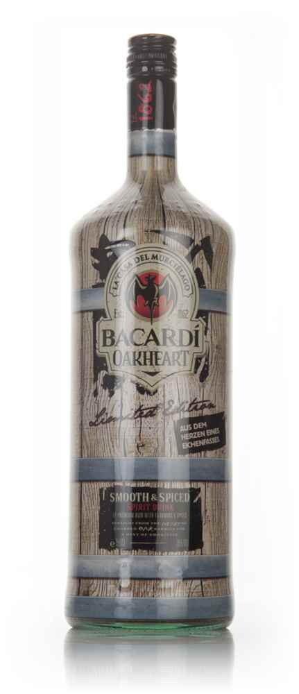 Bacardi oakheart spiced rum spirit drink 1 5l spirit for What goes good with spiced rum