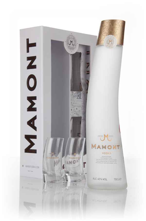 Mamont Vodka Gift Pack with 2 Glasses