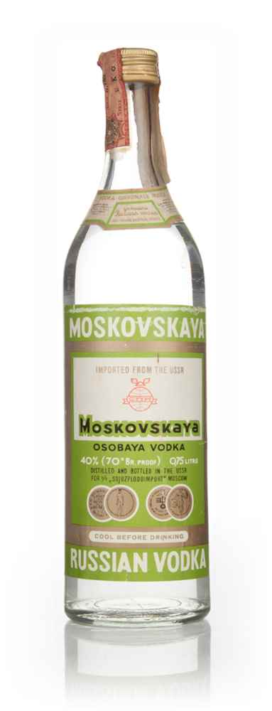 Moskovskaya Vodka 75cl -  1970s