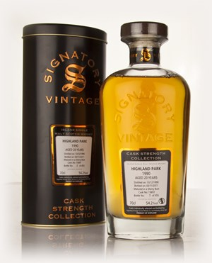 Highland Park 20 Year Old 1990 Cask 15697 - Cask Strength Collection (Signatory)