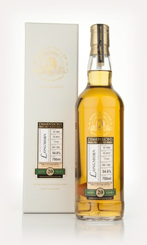 Longmorn 20 Year Old 1992 Cask 71741 - Dimensions (Duncan Taylor)