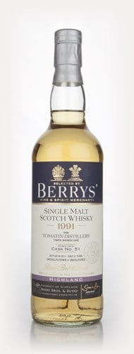 Tomatin 21 Year Old 1991 (cask 51) (Berry Bros. & Rudd)