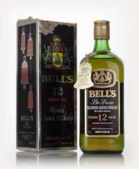 Bell's 12 Year Old De Luxe (Black Christmas Box) - 1970s