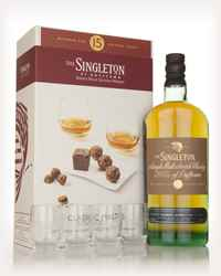 Singleton of Dufftown 15 Year Old - Classic Malts & Food Gift Set with 4x Glasses