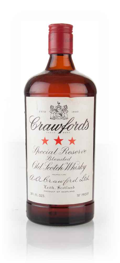 Crawford's 3 Star Blended Scotch Whisky - 1970s
