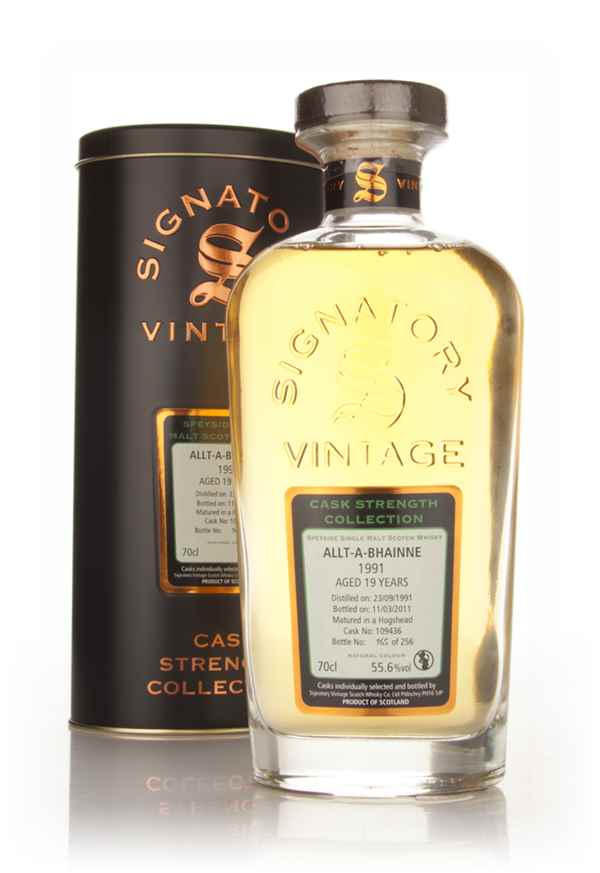 Allt-á-Bhainne 19 Year Old 1991 Cask 109436 - Cask Strength Collection (Signatory)