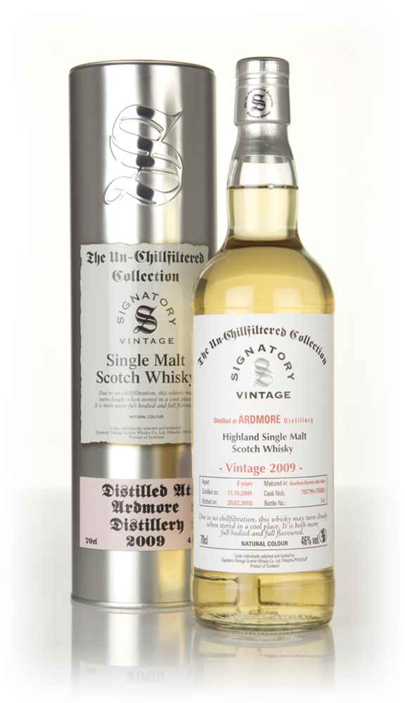 Ardmore 8 Year Old 2009 (casks 705799 & 705802) - Un-Chillfiltered Collection (Signatory)