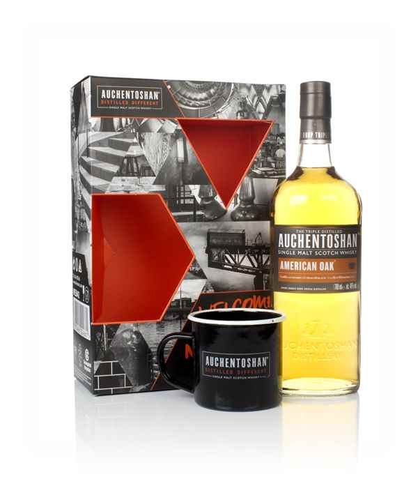 Auchentoshan American Oak Gift Pack with Cup