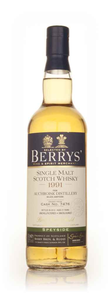 Auchroisk 21 Year Old 1991 (cask 7476) (Berry Bros. & Rudd)