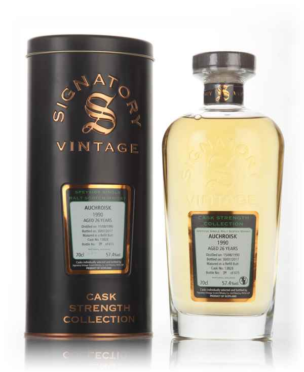 Auchroisk 26 Year Old 1990 (cask 13828) - Cask Strength Collection (Signatory)