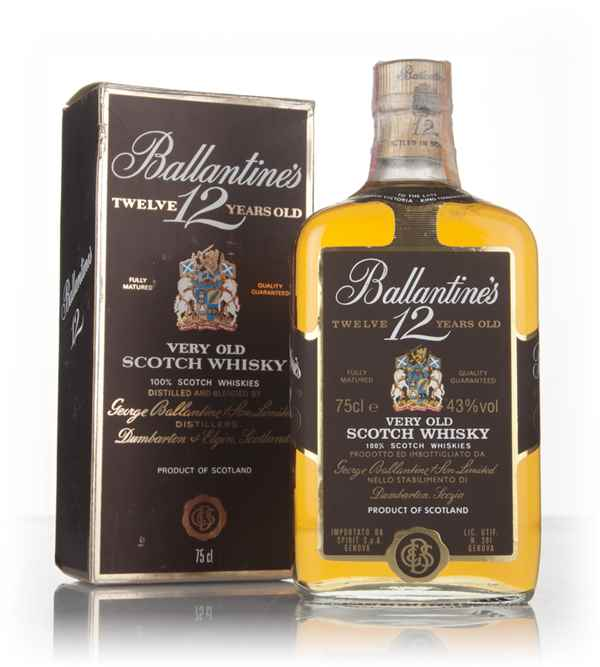 Ballantine's 12 Year Old 75cl (Boxed) - 1970s