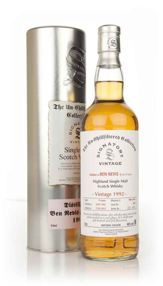 Ben Nevis 19 Year Old 1992 - Un-Chillfiltered (Signatory)