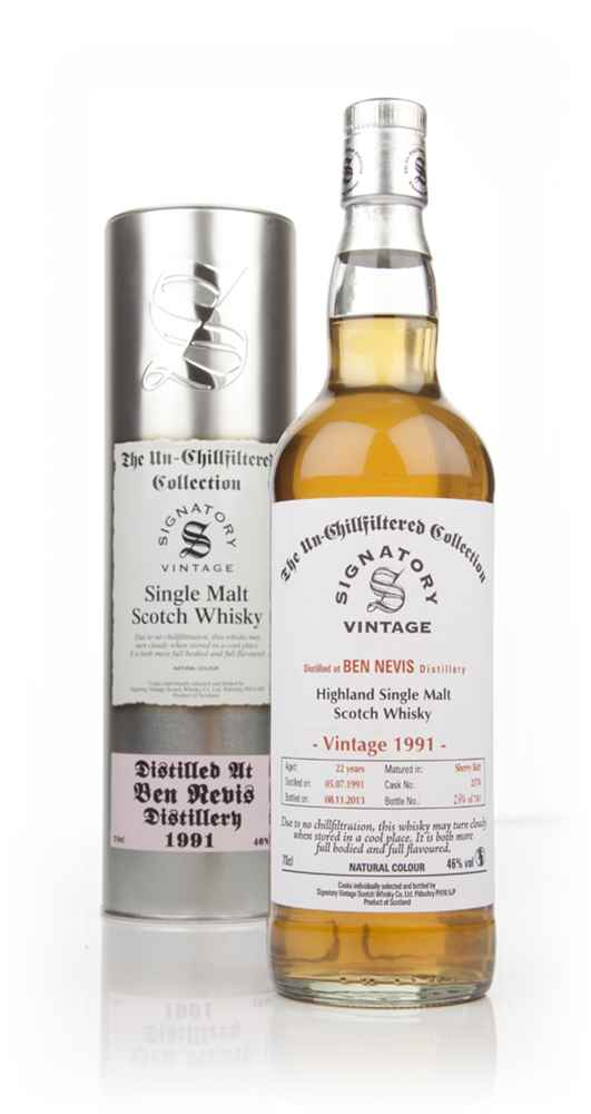 Ben Nevis 22 Year Old 1991 (cask 2374) - Un-Chillfiltered (Signatory)