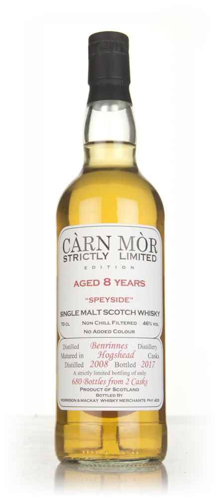 Benrinnes 8 Year Old 2008 - Strictly Limited (Càrn Mòr)