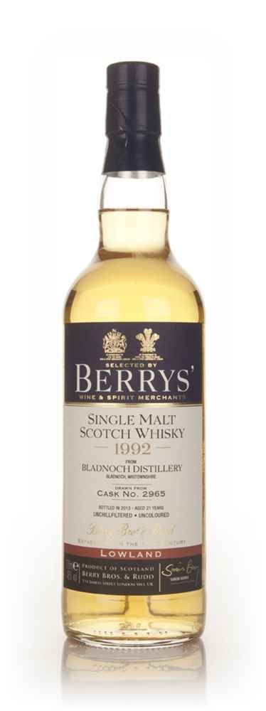 Bladnoch 21 Year Old 1992 (cask 2965) - (Berry Bros. & Rudd)