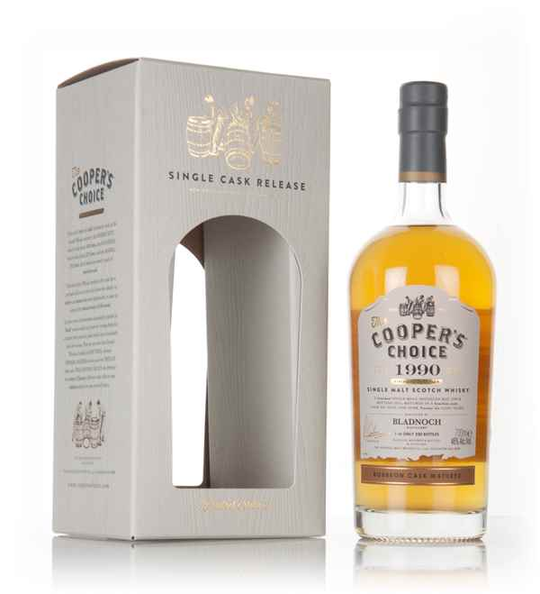 Bladnoch 26 Year Old 1990 (cask 30339) -The Cooper's Choice (The Vintage Malt Whisky Co.)