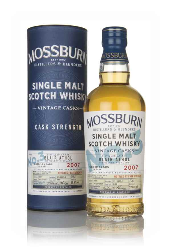 Blair Athol 10 Year Old 2007 - Cask Strength (Mossburn)