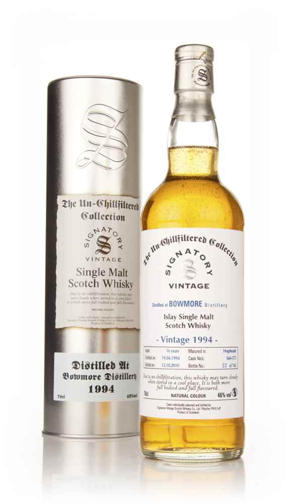 Bowmore 16 Year Old 1994 - Un-Chillfiltered (Signatory)