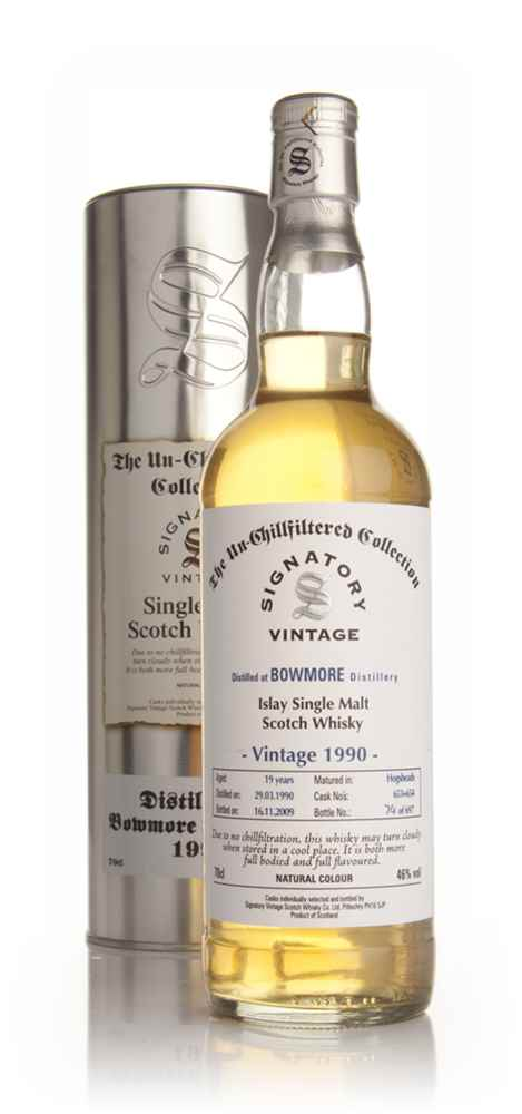 Bowmore 1990 - Un-Chillfiltered (Signatory)