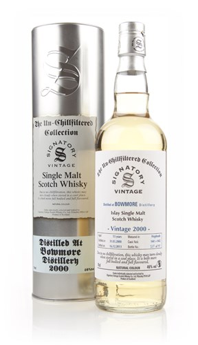 Bowmore 13 Year Old 2000 (casks 1441+1442) - Un-Chillfiltered (Signatory)